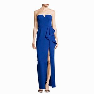 Adrianna Papell Royal Blue Cascade Gown